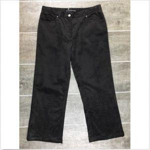 Elie Tahari Corduroy Cropped Pants Size 6 Brown